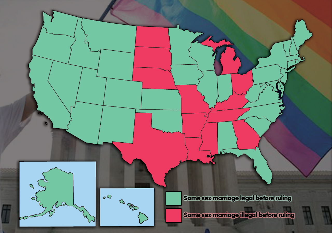 Gay Marriage United States Map.Same Sex Marriage By The Numbers Breakdown Of The Landmark U S