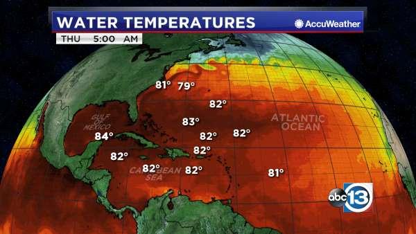 Atlantic Water Temperatures Abc13 Com