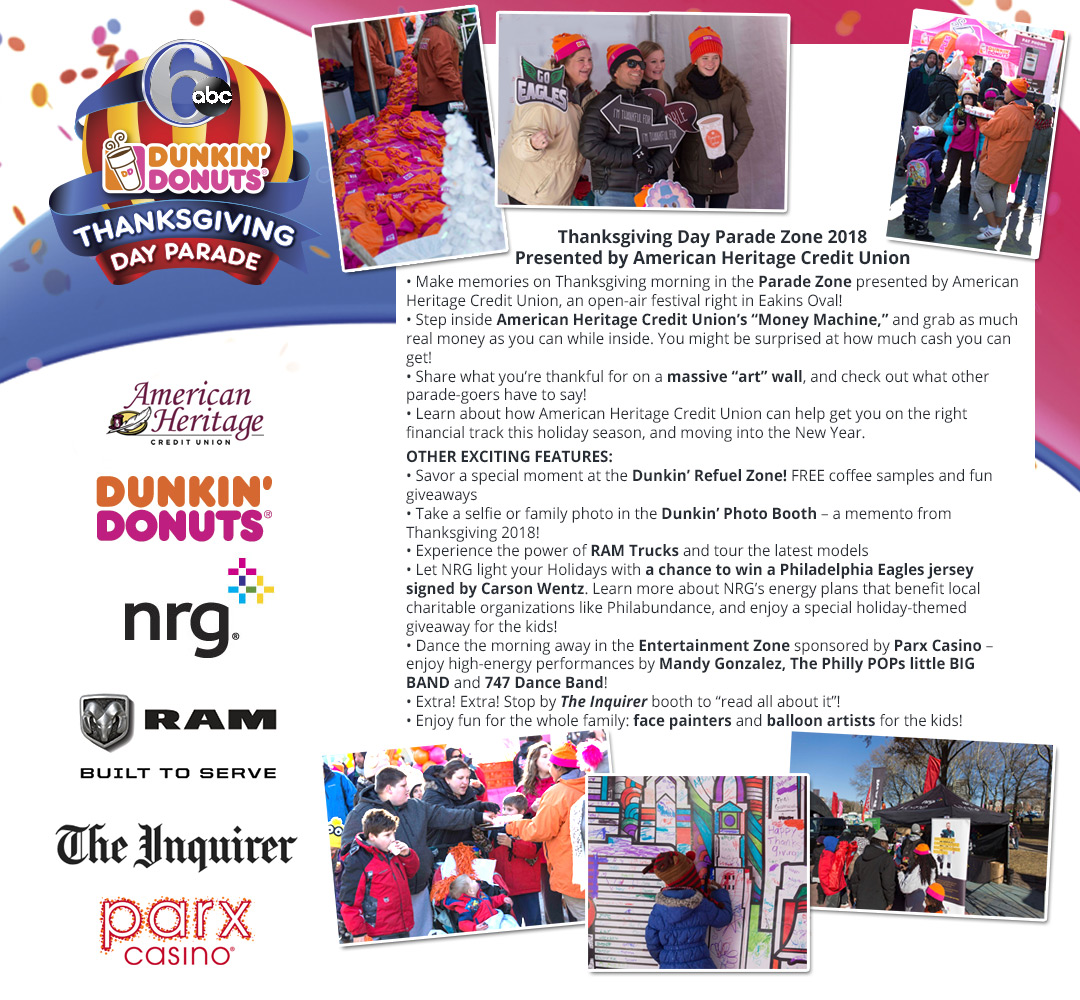 2018 6abc Dunkin\' Donuts Thanksgiving Day Parade