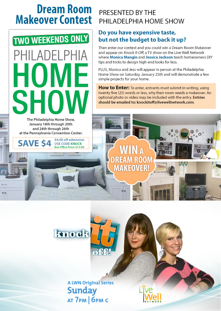 Dream room makeover contest presented by the philadelphia for Dream room maker