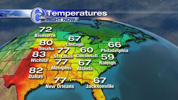 East Coast Temperatures