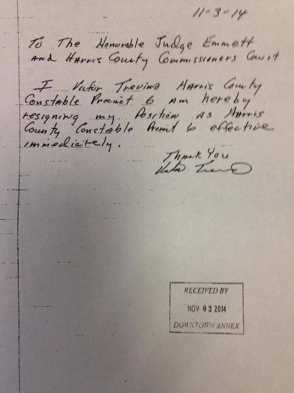 letter of resignation examples constable victor trevino is guilty gun talk 1422
