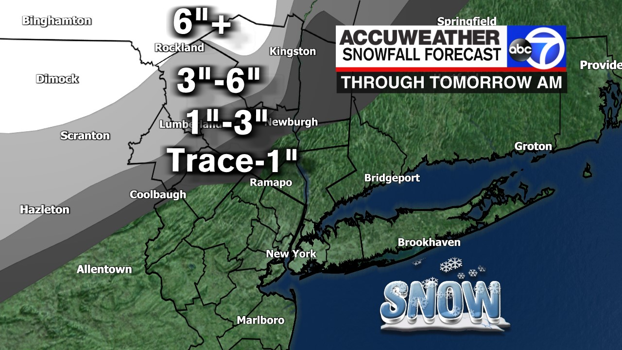 Snow expected in New York, New Jersey