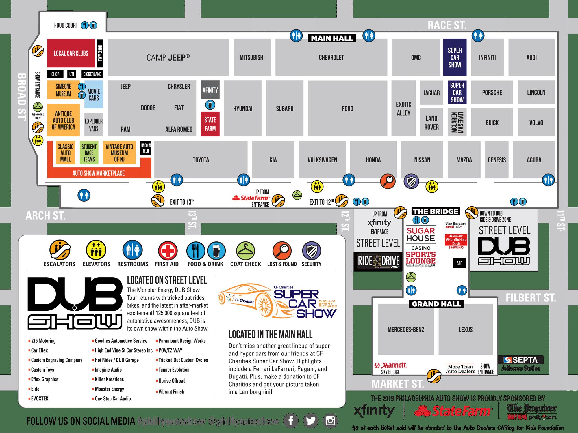 2019 Auto Show Map 6abc Philadelphia