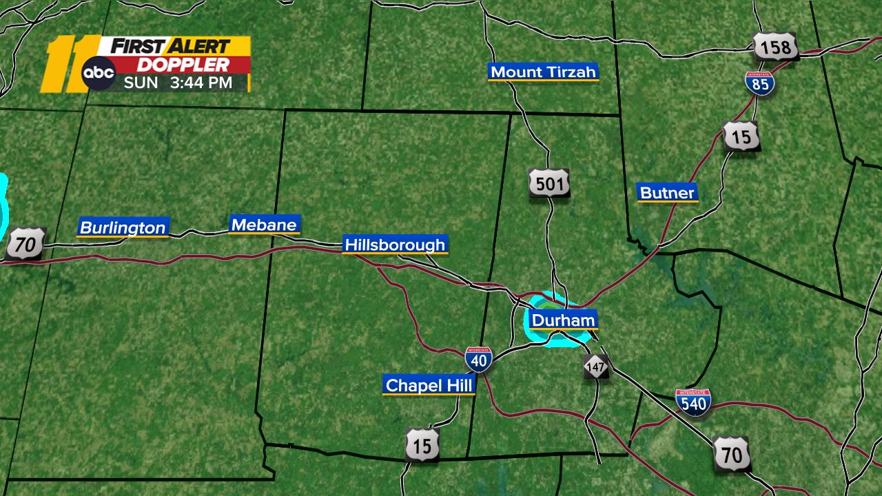 Durham, Orange Doppler Radar Map