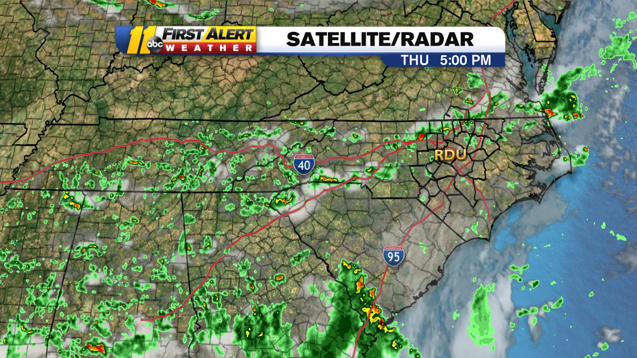 North Carolina Weather Radar First Alert Doppler: Regional Satellite